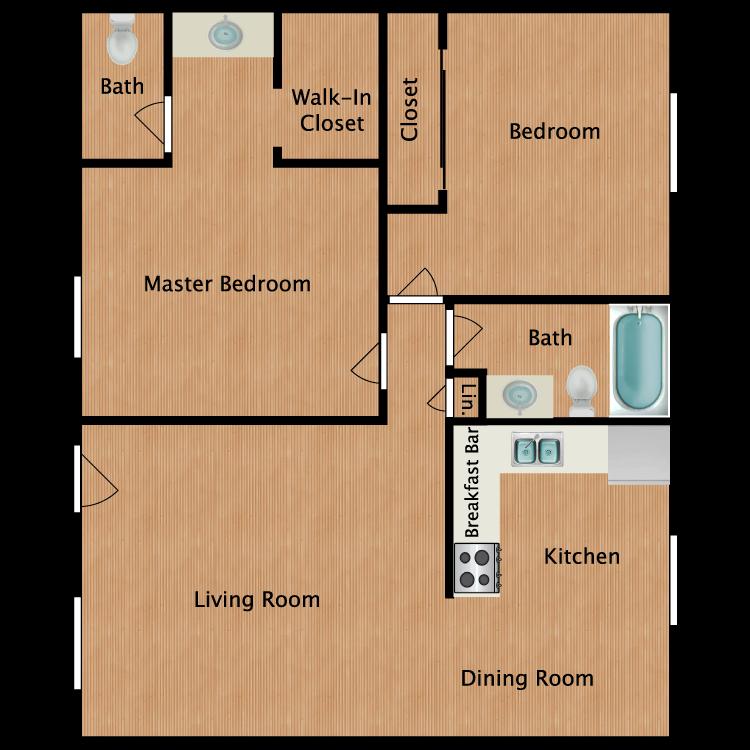 Floor plan image of 2 Bedroom - Plan B