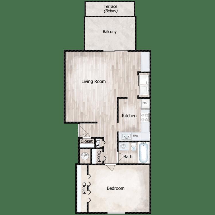 Floor plan image of The Cortland