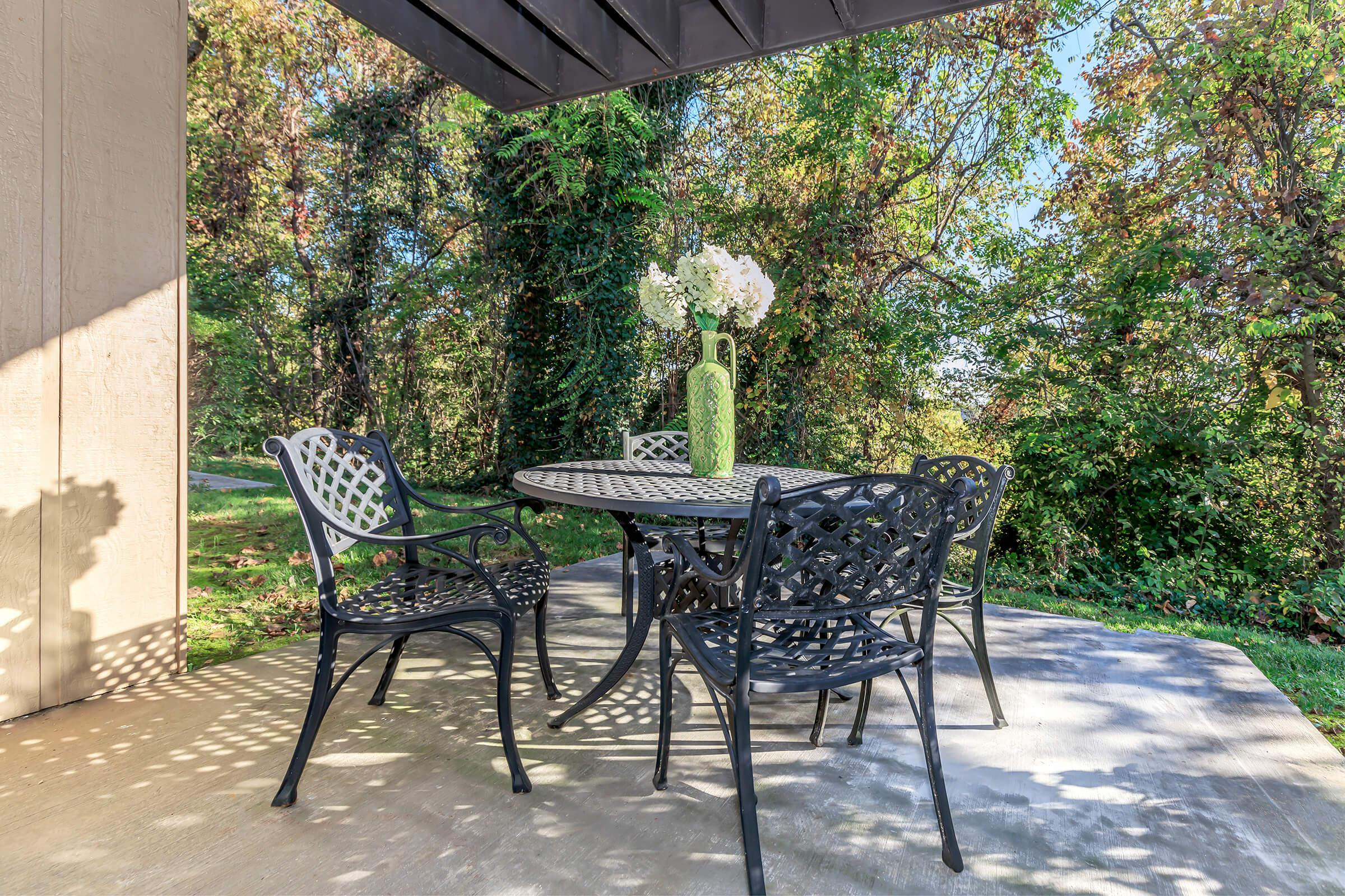 EXPANSIVE OUTDOOR LIVING AREA AT KINGSTON POINTE APARTMENTS