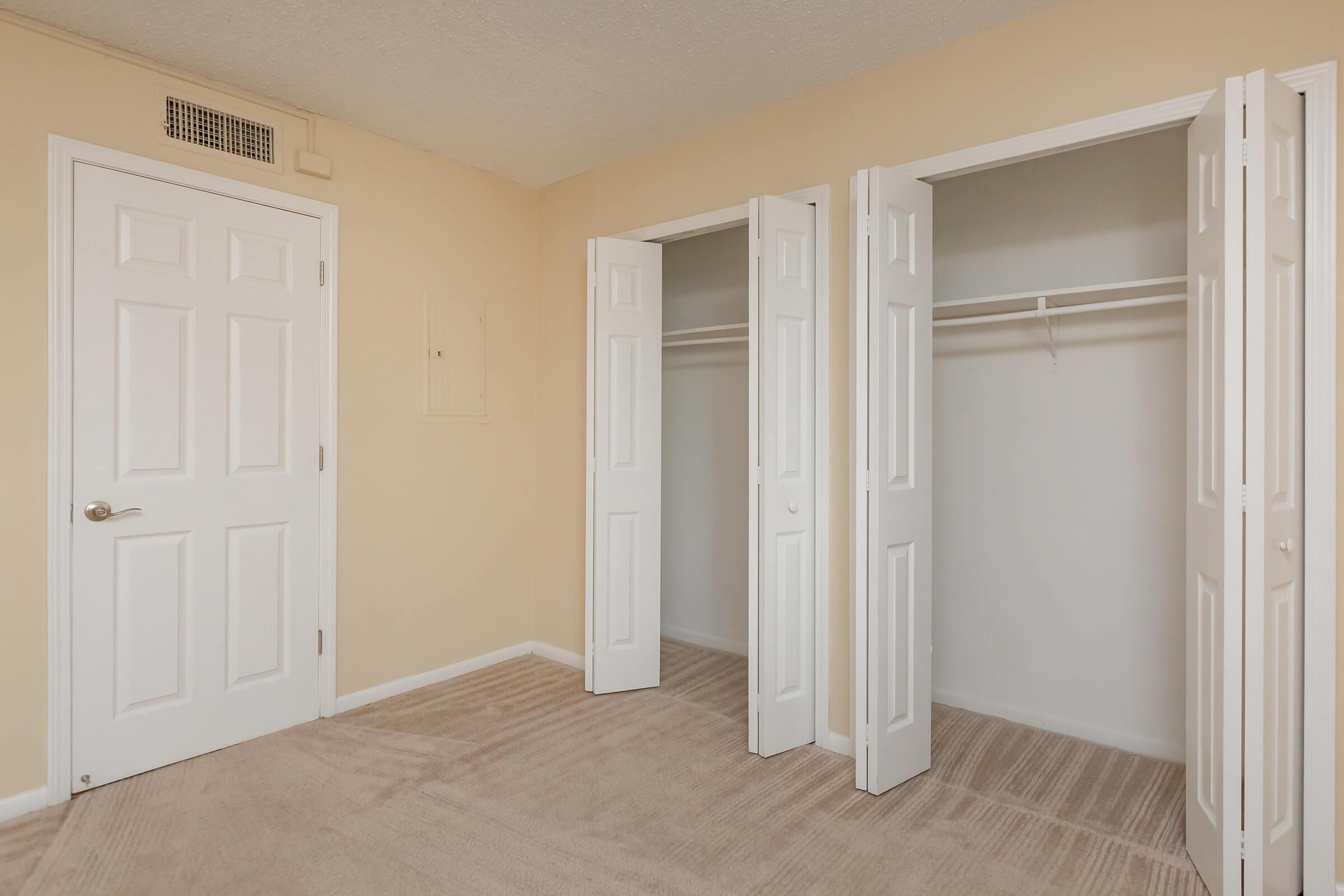 a white door in a room