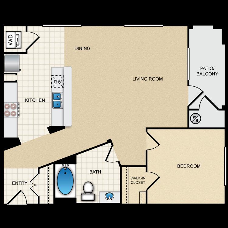 Floor plan image of 1E1