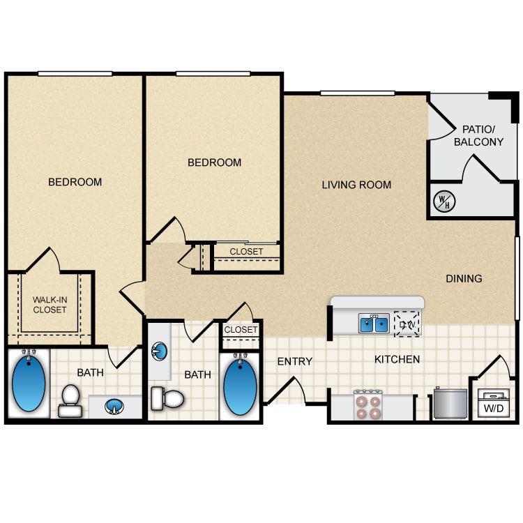 Floor plan image of 2A2