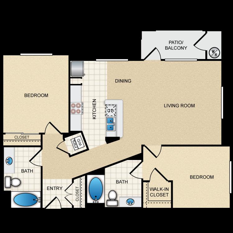 Floor plan image of 2B2