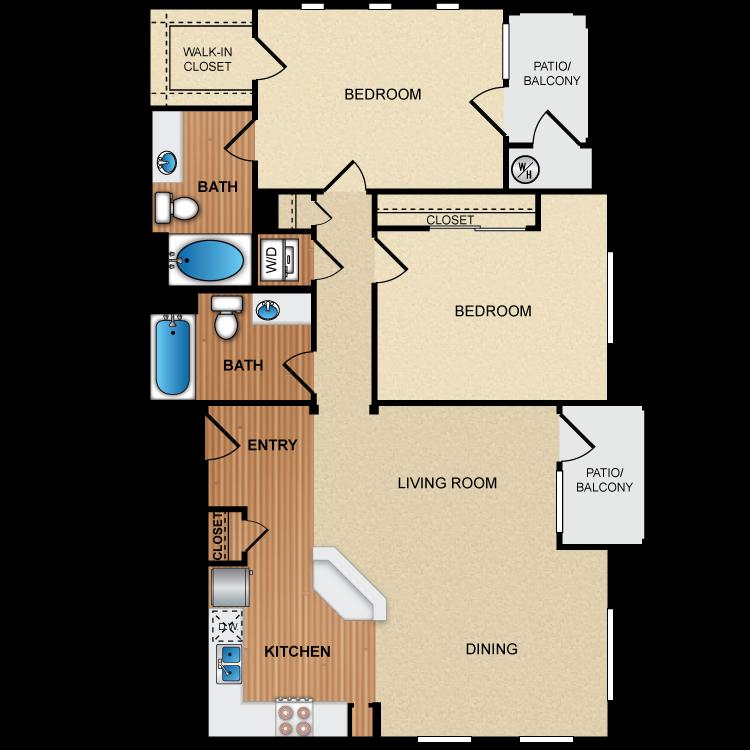 Floor plan image of 2C2