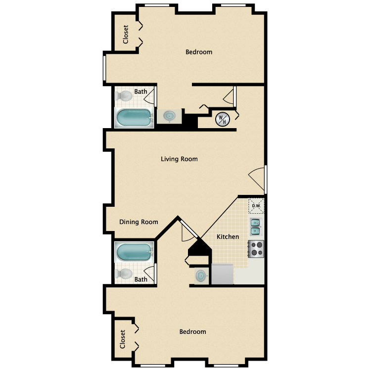 Floor plan image of The Carriage House