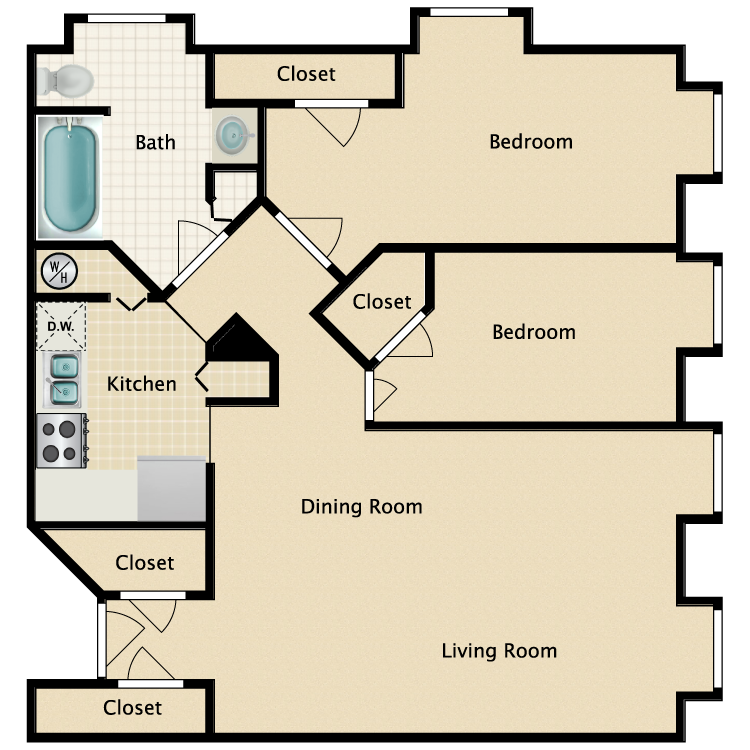 Floor plan image of The Moxie Suite