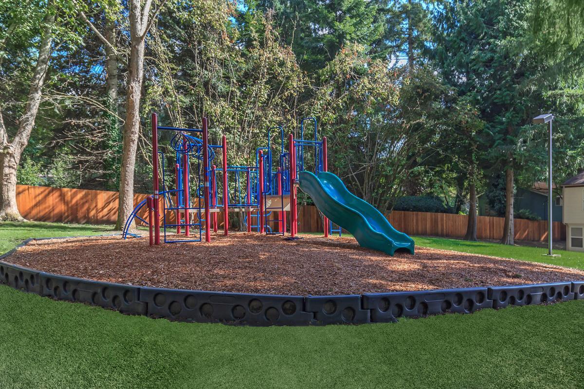 a playground in a garden