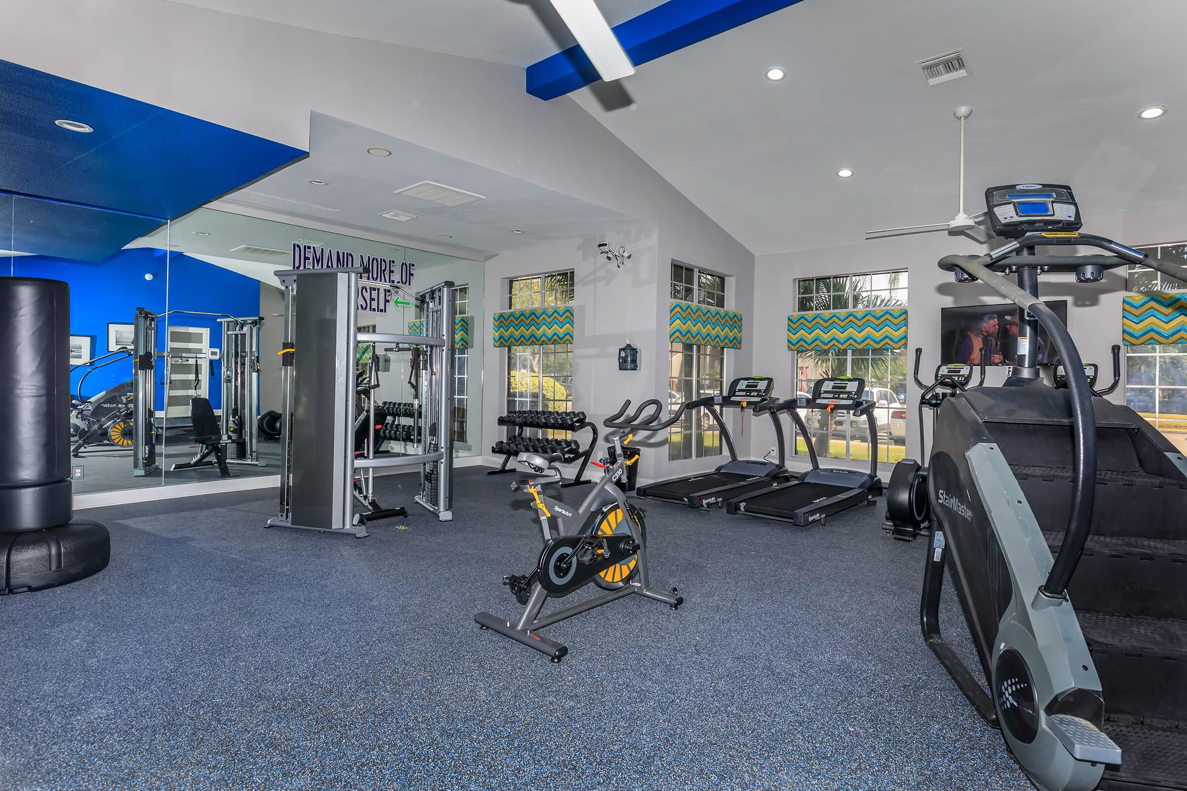 WORK OUT AT OUR FITNESS CENTER