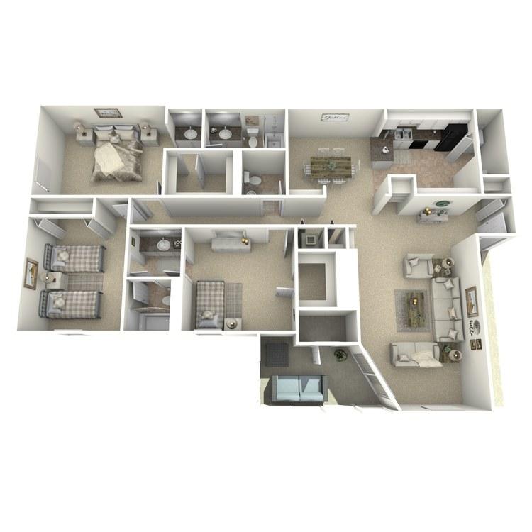 Floor plan image of The Chattahoochee