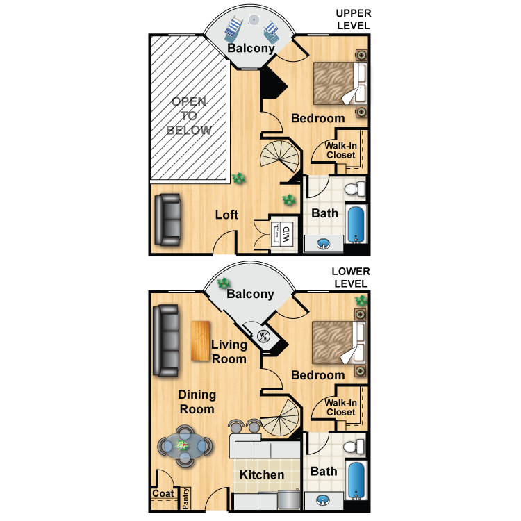 Floor plan image of Loft Plan K