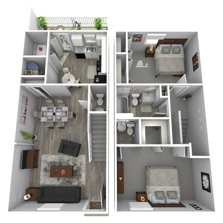 Floor plan image of Renderings III
