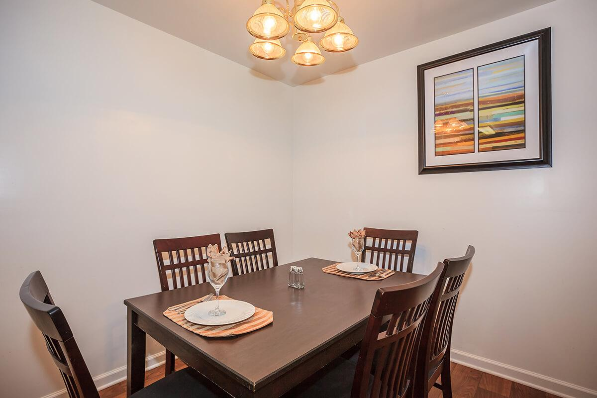 a dining room table