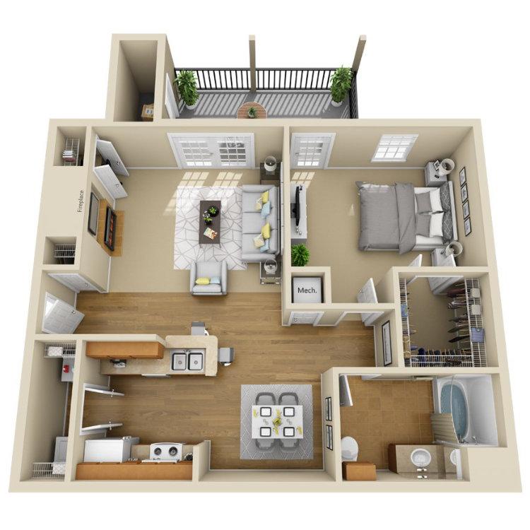 Floor plan image of Magnolia Palm