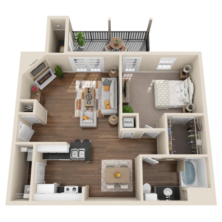 Floor plan image of Sago Palm
