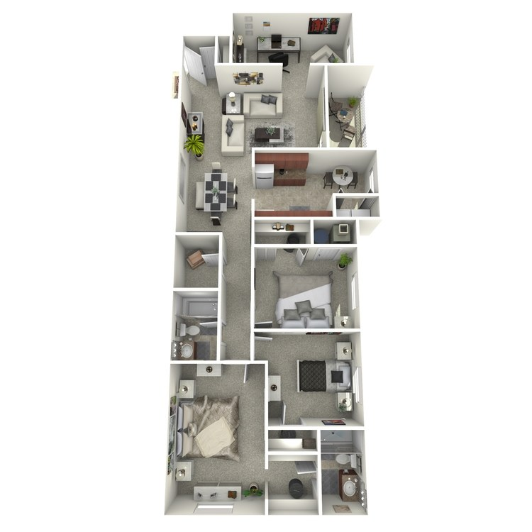 Floor plan image of 3 Bedroom with Den