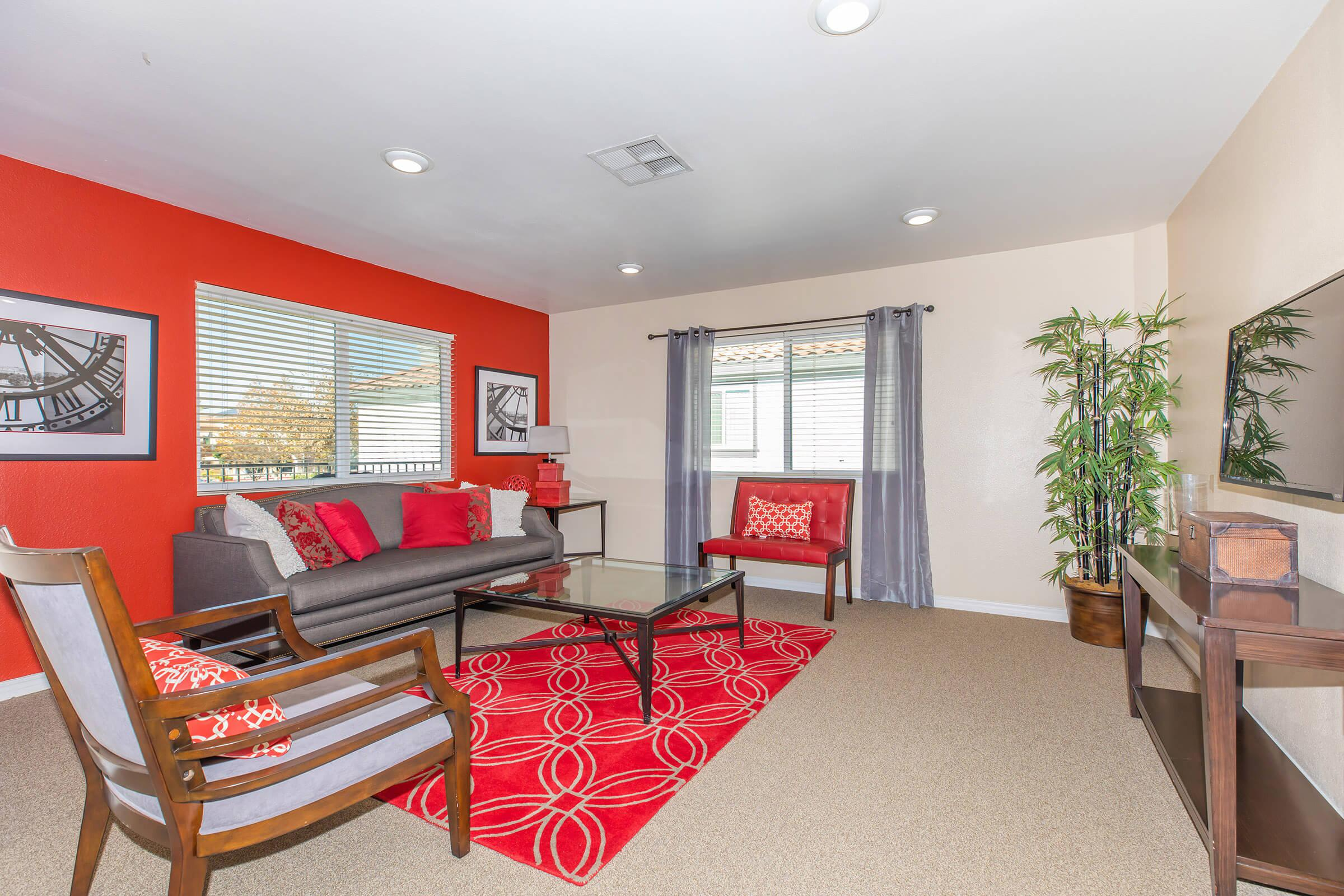 Common Room at Enclave at Town Square Apartments in Chino, CA