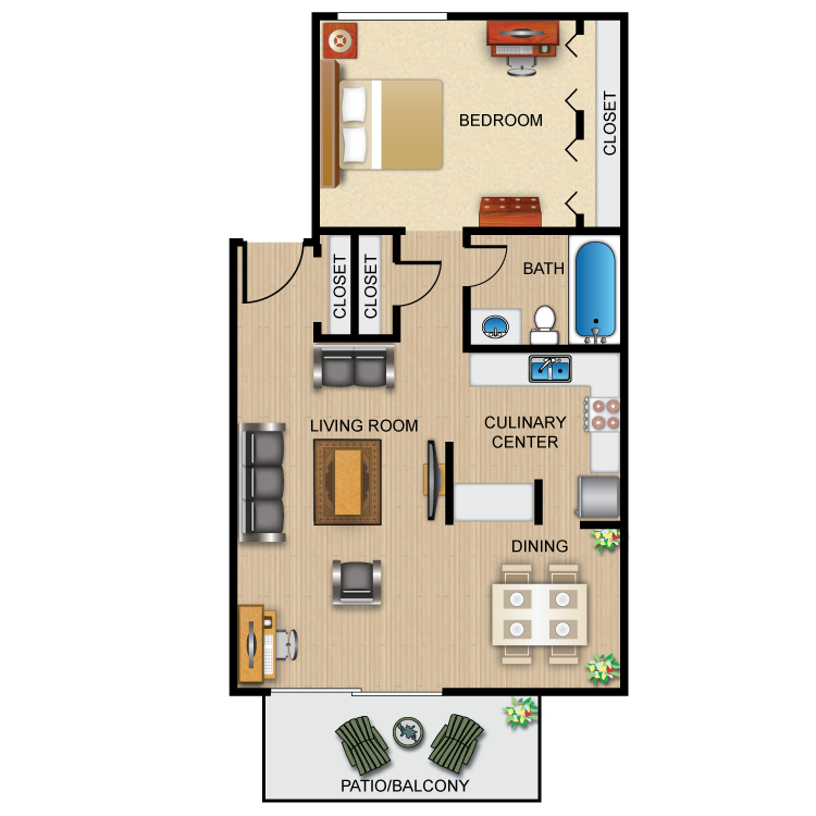 Floor plan image of The Cayuga
