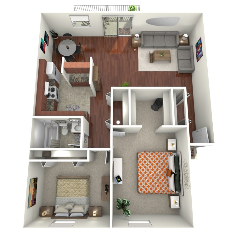 Floor plan image of The Keuka Corner w/Balcony