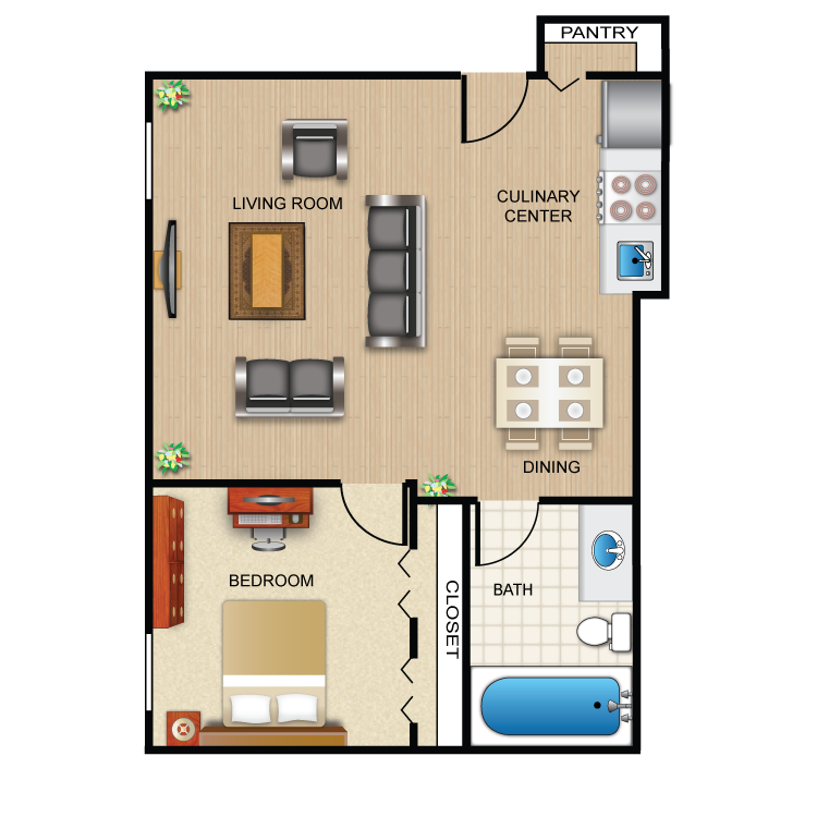 1 bedroom bath apartment floor plans for 1 bed 1 bath house plans