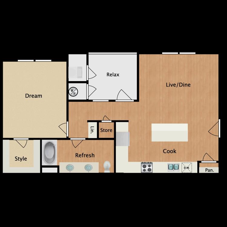 Plan 1B floor plan image