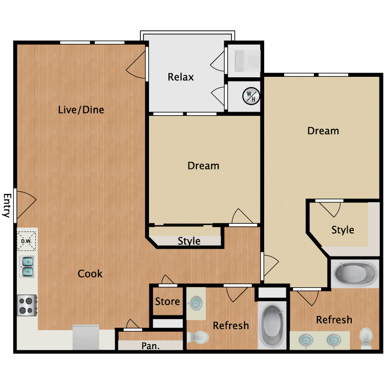 Plan 2A floor plan image