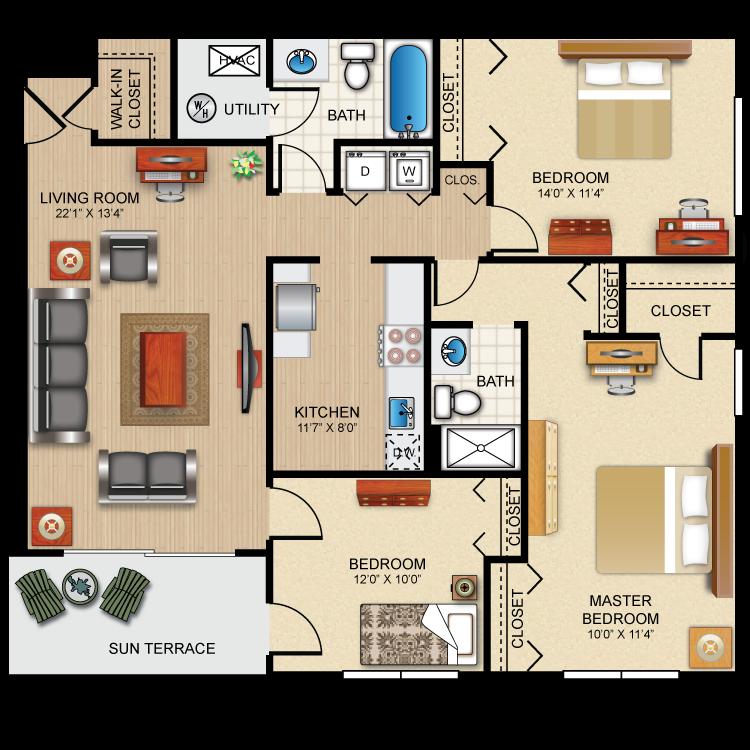 Floor plan image of The Barrington
