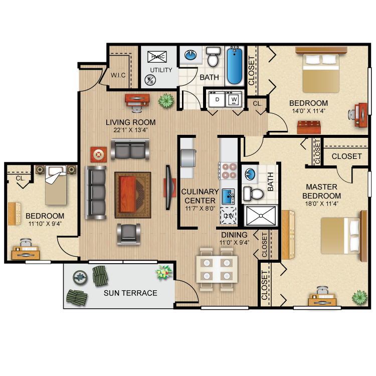 Floor plan image of The Bradford