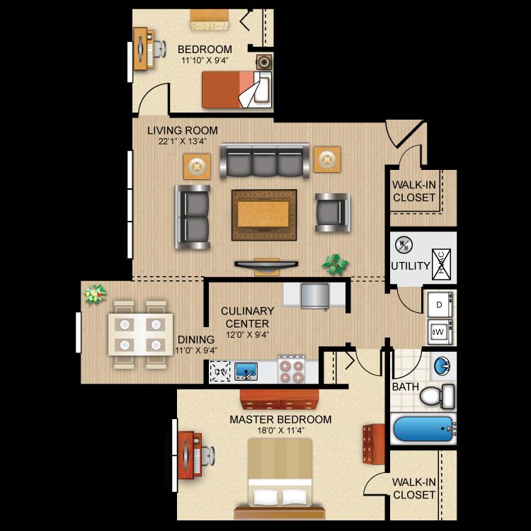 Floor plan image of The Brighton