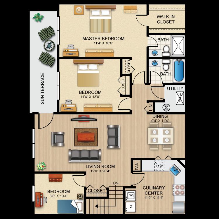 Floor plan image of The Westbury