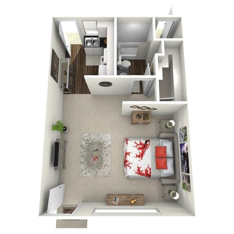 Floor plan image of Studio-Small
