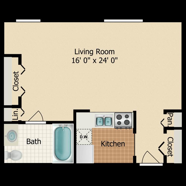 Large Studio floor plan image