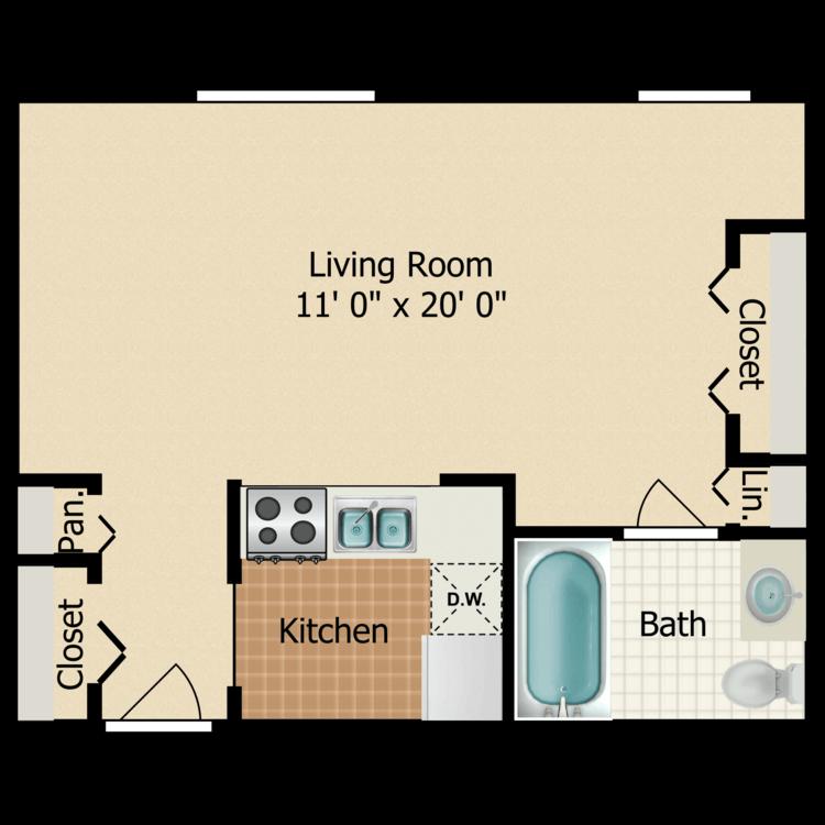 Small Studio floor plan image