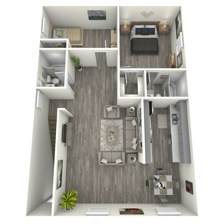 Floor plan image of Two Bed Two Bath