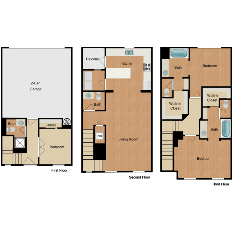 Floor plan image of 3 Bed 3.5 Bath