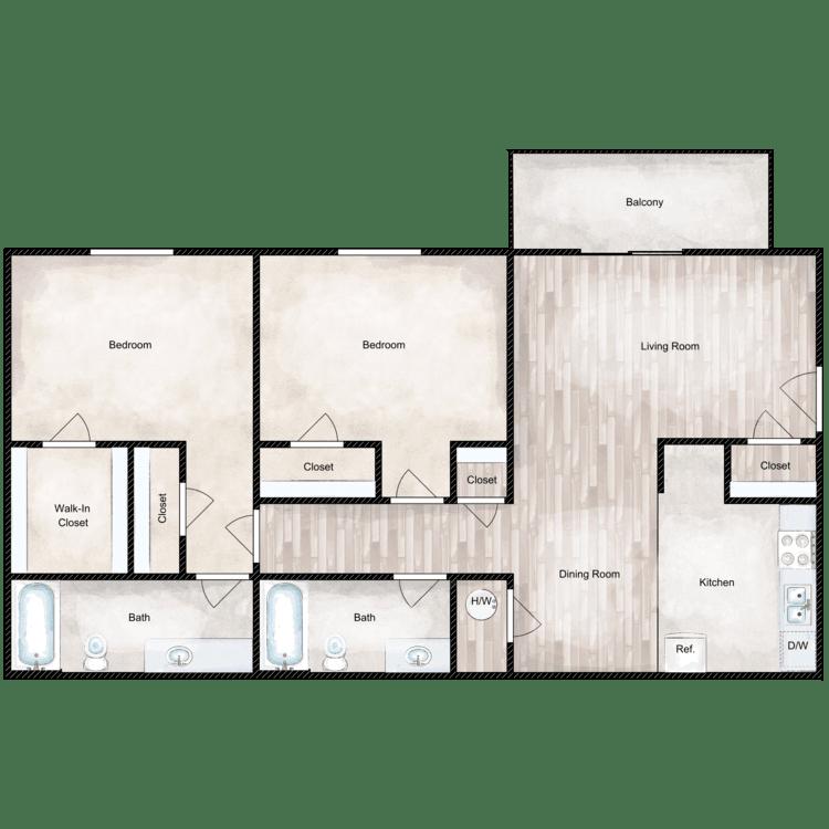 Floor plan image of Bradford