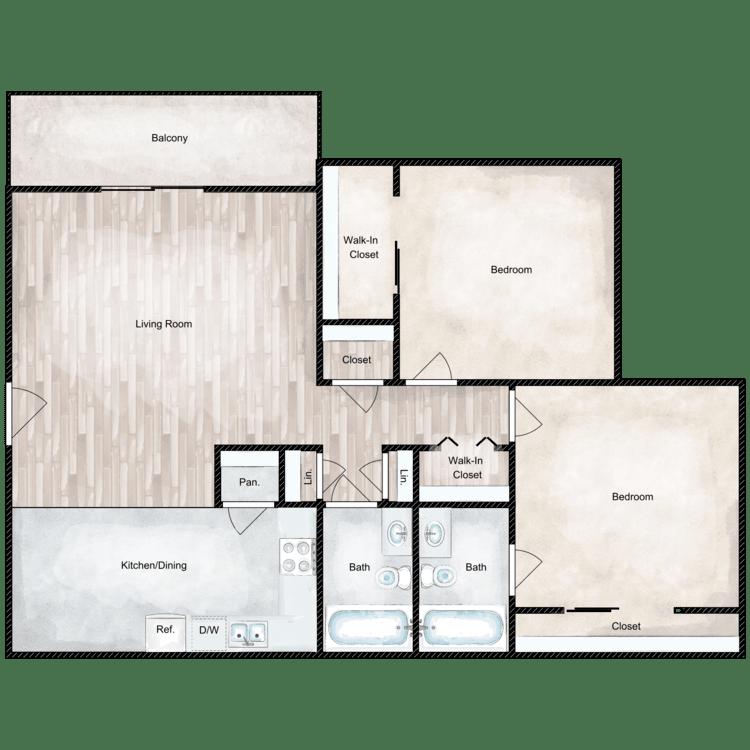 Floor plan image of Bradford Deluxe