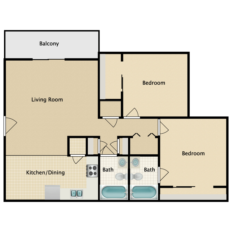 Floor plan image of Bradford Deluxe