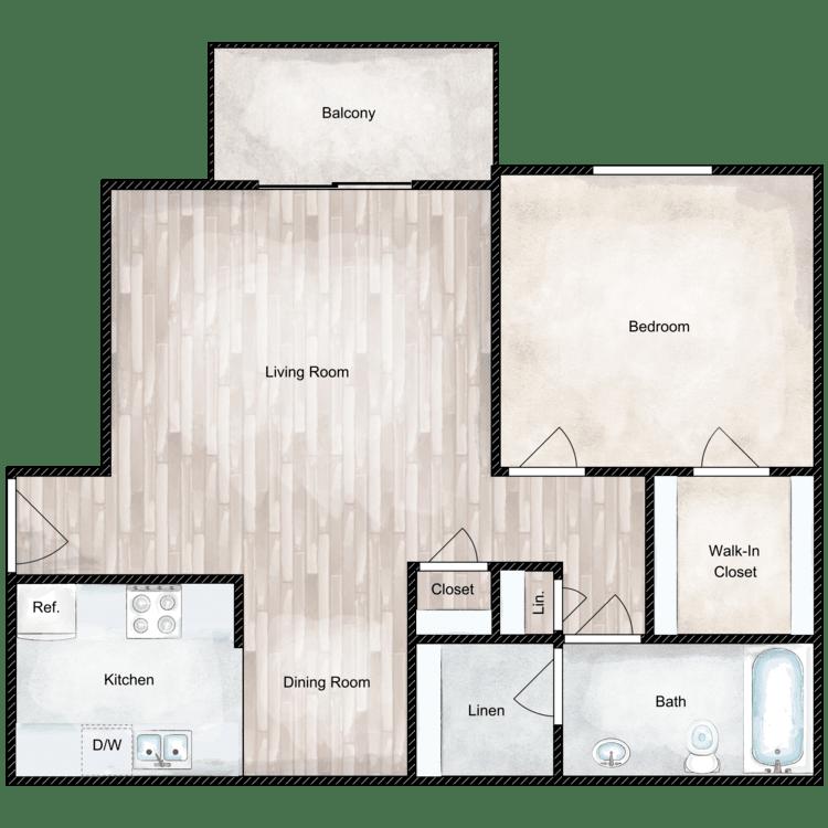 Floor plan image of Willow Deluxe