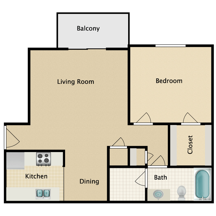 Floor plan image of Willow Deluxe