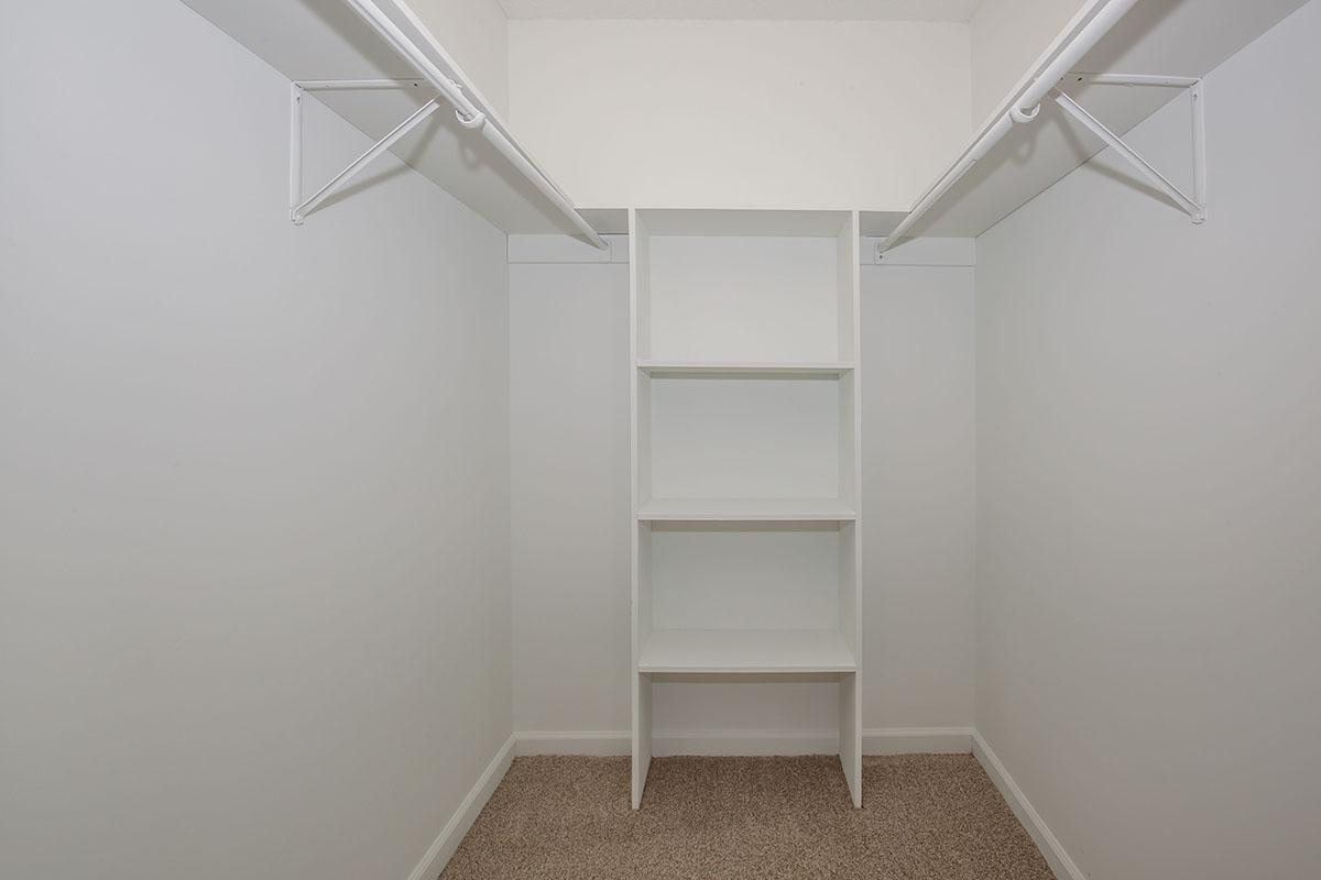 Walk-In Closet at The Dogwood at Laurel Ridge Apartments in Chattanooga, Tennessee