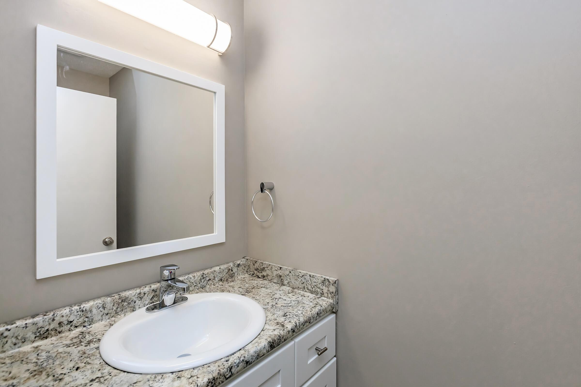 Beautiful Bathroom Countertops Here at The Magnolia at Laurel Ridge Apartments in Chattanooga, TN