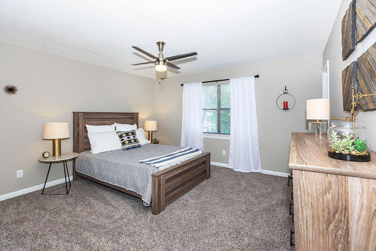 Carpeted bedroom floors at Laurel Ridge Apartments