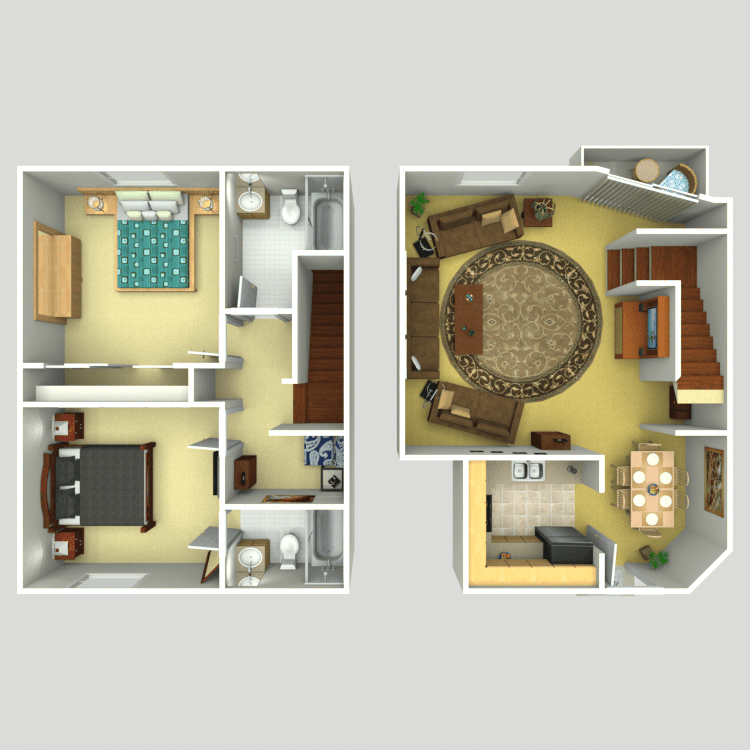 Floor plan image of 2 Story Townhouse