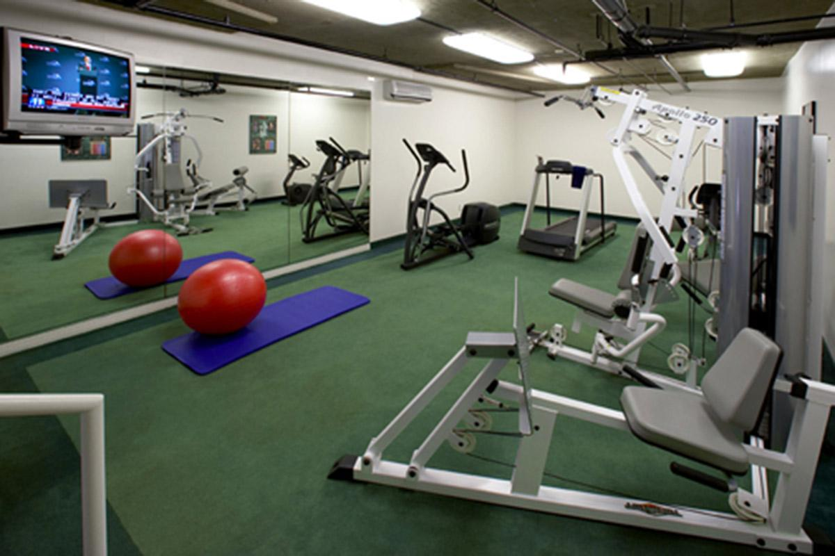 Watch TV while you work out in our club-quality Fitness Center.
