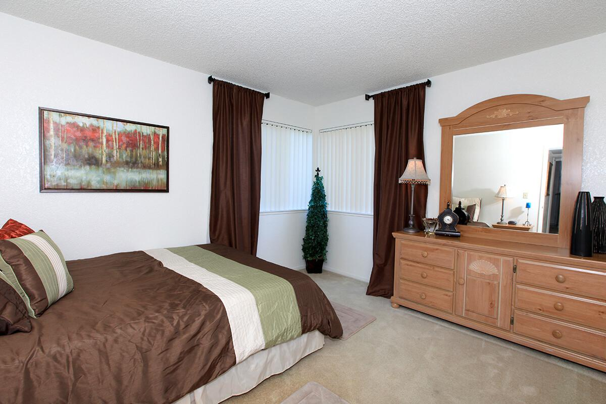Lake Ridge apartment homes have carpeted bedrooms