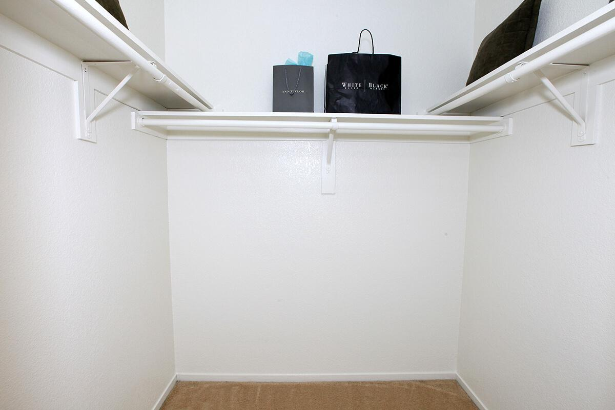 The floor plans at Lake Ridge have large walk-in closets