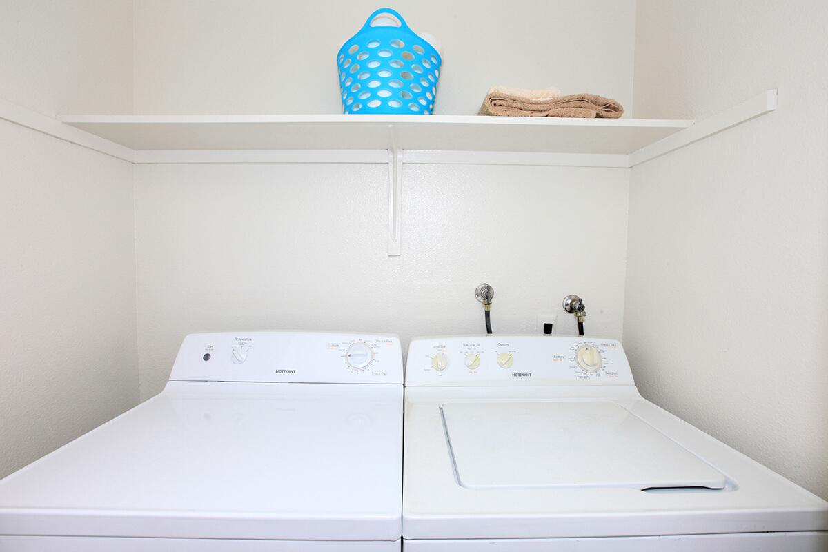 This floor plan at Lake Ridge comes with a washer - dryer