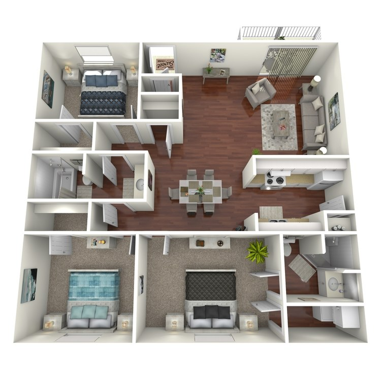 Floor plan image of The Ybor Deluxe