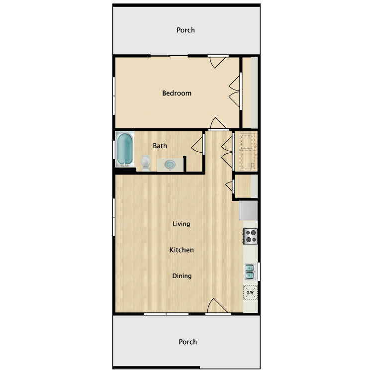 Floor plan image of 1A
