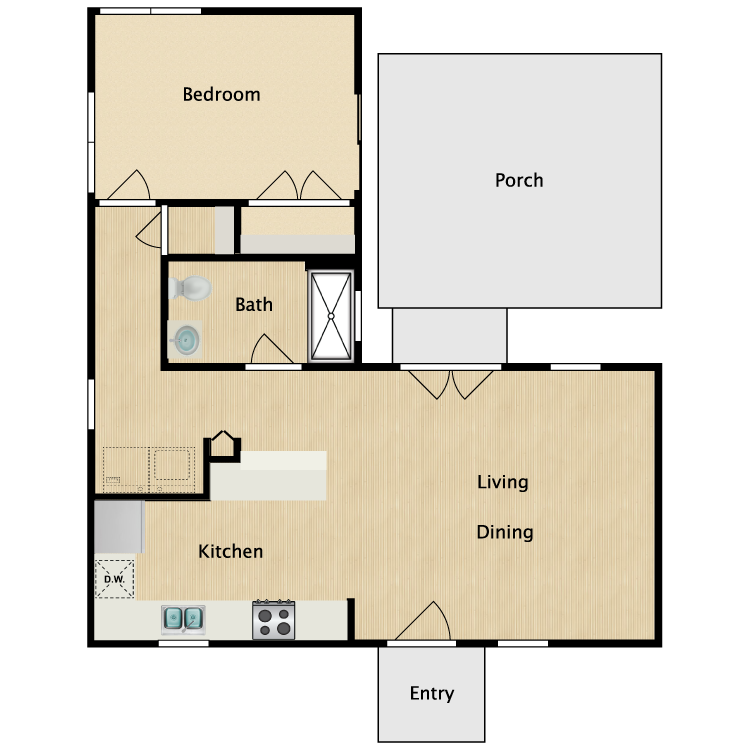 Floor plan image of 1B